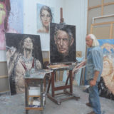 Oliver im Atelier Crech Andre